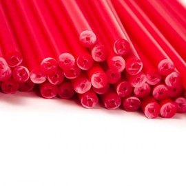 Rot 15cm Cake Pop / Lollipop Sticks